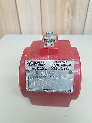 Andover 200:5 Current Transformer, type DCBW