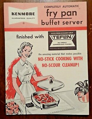 1960s Manual for KENMORE FRY PAN BUFFET SERVER, Very Good Condition, RECIPES