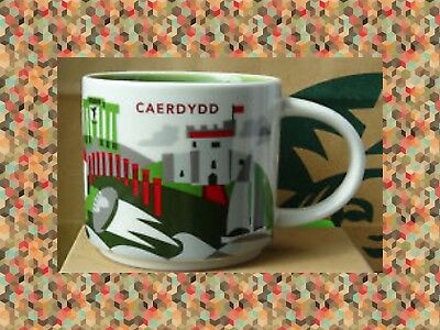 NWT Starbucks CAERDYDD Cardiff Wales You Are Here YAH Collector Series Mug w/SKU