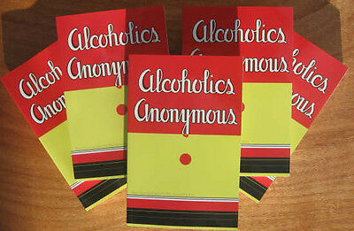 5 NEW Softcover Alcoholics Anonymous First Edition Reprint 1st Big Book AA
