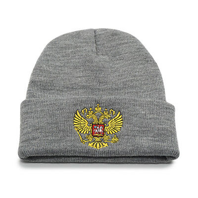 a25f1963700 New Winter Hat Russian National Emblem Cap Knitted Beanie Hats Men Unisex  Beanie