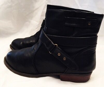 Boots Shoes Girls Size 4 Ankle Boots Shoes Black Leather Western Boots Shoes