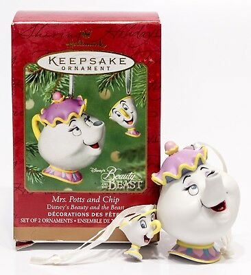 Hallmark Ornament Beauty and the Beast Mrs. Potts and Chips 2001