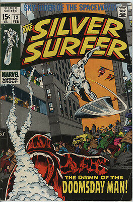 Silver Surfer Issue 13 From 1970 By John Buscema & Stan Lee Silver Age Marvel