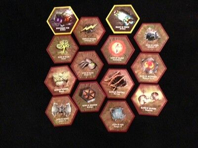 Heroscape Game Accessories Rise of the Valkyrie Set of 14 Glyphs Replacement Pcs