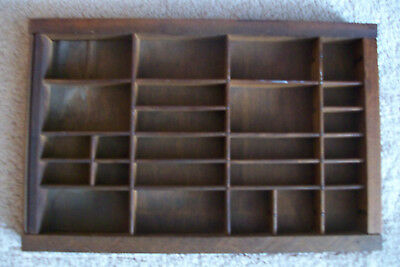 Vintage Wood Printers Tray Curio Wall shelf....small collectibles