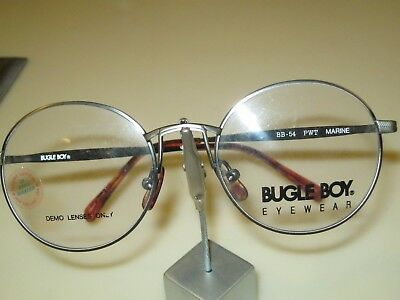 Round Eye Vintage Glasses Frame Bugle Boy Model Marine in Pewter Size 48/18.New.