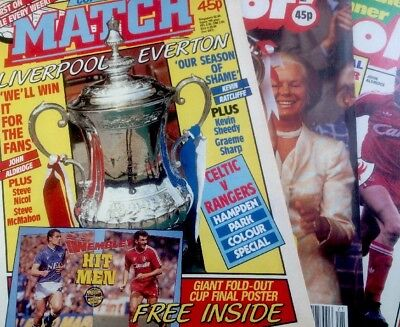 3 X 1989 FA Cup Final Special Edition Shoot / Match - Mint - Liverpool FC