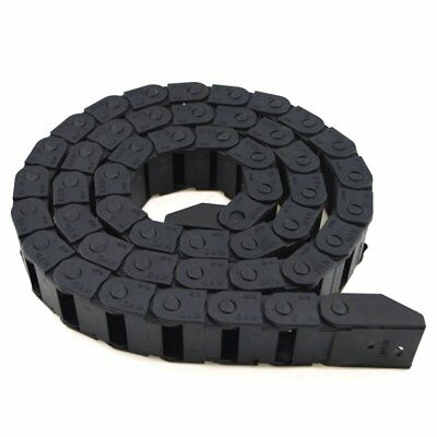 Black Drag Chain Cable Carrier Plastic 10 x 20mm CNC Router Mill 3D Printer Wire