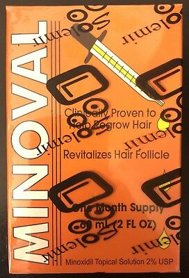 MINOVAL Hair Regrowth Treatment for Women and men 60 ml / 2oz  FREE SHIPPING