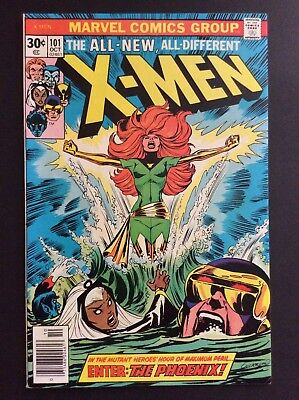 X-MEN #101 PHOENIX ORIGIN/1st COVER+1st app BLACK TOM CASSIDY VERY HIGH GRADE!!!