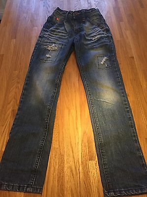 Next Boys Blue Distressed/ Ripped Jeans Age 10 Years In Vgc