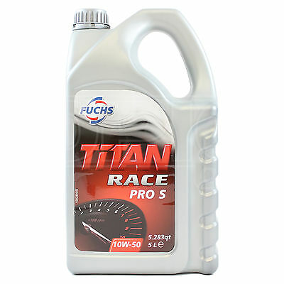 Fuchs Titan Race Pro S 10W-50 Ester Synthetic Engine Oil 5 Litres 5L 10w50