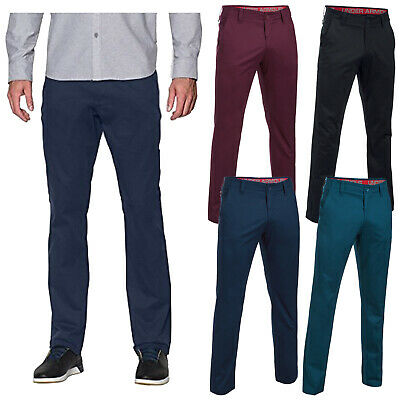 Under Armour Mens Performance Taper Chino Trousers Golf Stretch Flat Front Pants