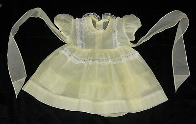 "Vintage Sheer Yellow Baby/Toddler Dress ""Party Look Original"""