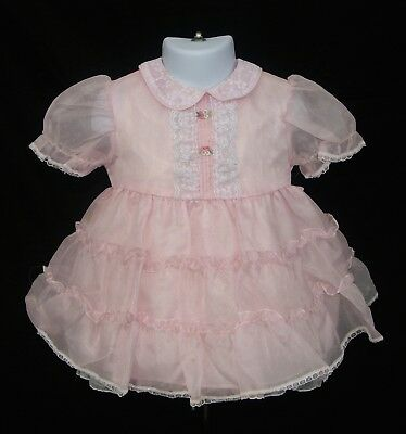 Vintage Sheer Pink Girl's/Toddler Dress 2T