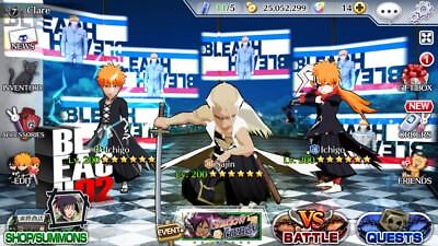 Bleach Brave Souls End-Game Account