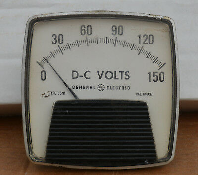 Vintage General Electric Panel Meter - DC Volts 0 - 150 - Type DO-91
