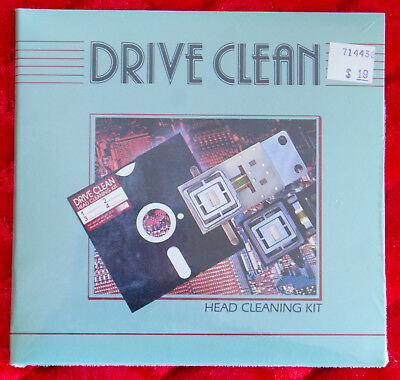 Drive Clean 5.25 Inch Disk Drive Head Cleaning System - NEW OLD STOCK SEALED