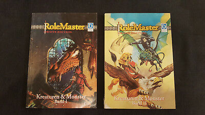 KREATUREN & MONSTER Band 1 & 2 Role Master Zweite Edition 1997 – 1. Auflage 1997