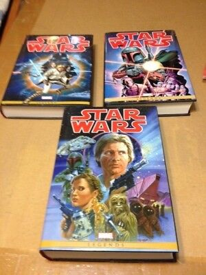 STAR WARS OMNIBUS #1 2 and 3 ORIGINAL MARVEL YEARS Very Fine condition !