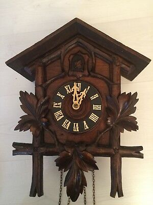 Antique German Cuckoo Clock Currently Running. See & Hear Video