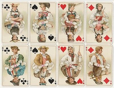 ♥ ♥ ♥ Spielkarten Playing Cards DONDORF Schweizer Trachten Whist Nr. 174 ♥ ♥ ♥