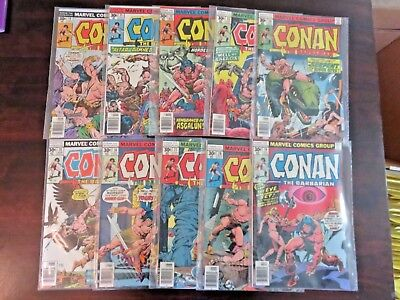 Conan the Barbarian #70 71 72 73 74 75 76 77 78 79 (1977, Marvel) VF+/NM 8.5-9.0