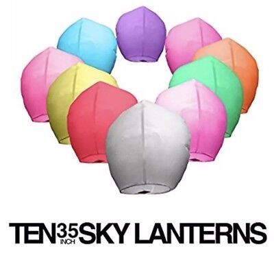 Colorful Chinese Paper Lanterns (10 Ct) 100% Biodegradable
