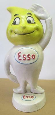 Super Nice Esso Oil Drop Boy 9 1/2 Inches Tall Cast Iron Bank