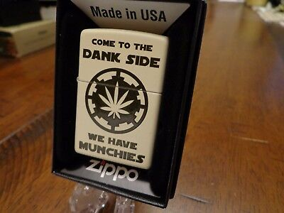 Come To The Dank Side We Have Munchies Marijuana Zippo Lighter Mint In Box 2017