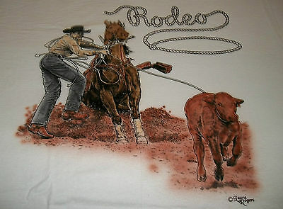 "Rodeo Rider T-shirt  "" White "" 3XL ( 54 ~ 56 )"