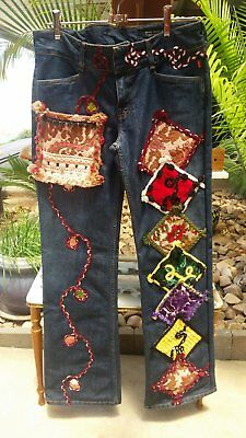 Vintage Levis.....Featuring Hand Patchwork Size 11 or 29