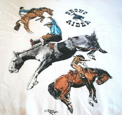 "Bronc Riders T-shirt "" Natural "" 2XL ( 50 ~ 52 )"