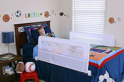 Regalo Double Sided Swing Down Bedrail Bed Rail Safety Hide Child Baby Toddler