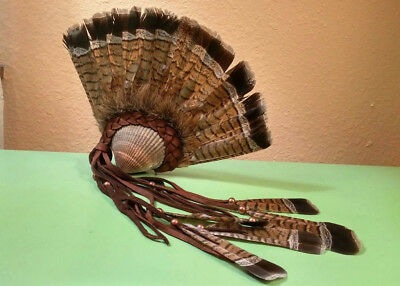 Bird Feather Soaring Eagle Woman Native American Style clam shell rattle.