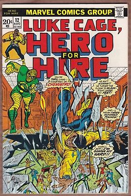 Luke Cage, Hero For Hire #12 (1973) VFN 1st appearance of Chemistro!