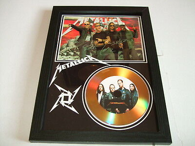 Metallica Signed  Gold Cd  Disc