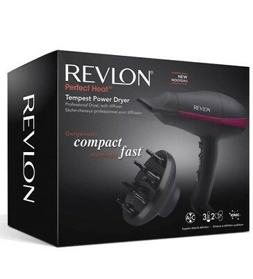 Revlon RVDR5821DUK Pro AC Ionic Tempest Power Hair Dryer with Diffuser 2000 Watt