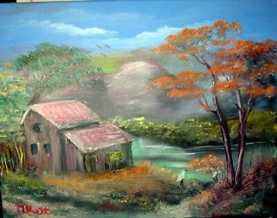 Painting,in acrylic on canvas which one ready to decorate your house wall.