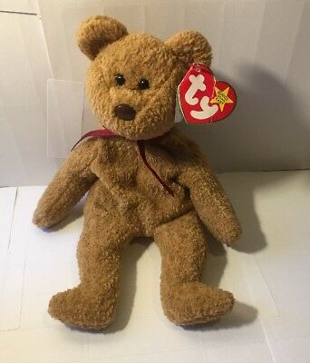 TY Beanie Baby Curly w/ P.E. Pellets Original Babies  W/ Tag Errors Defects NR
