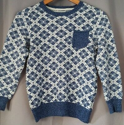 H&M LOGG Youth Snowflake Sweater, Size 8-10 Y