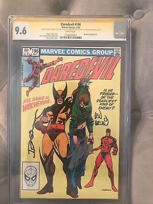 DAREDEVIL #196 - CGC SS 9.6 - Signed 3x by Stan Lee, Len Wein, and Denny O'Neil