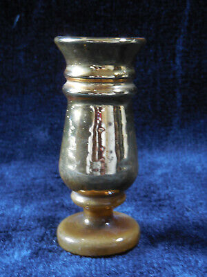 Antique Vintage Victorian Mercury Gold Glass Small Vase