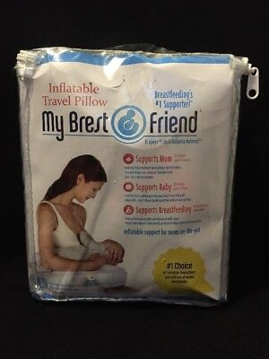 My Brest Friend Inflatable Travel Pillow, Black/white, New, Free Shipping