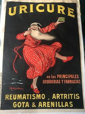 Uricure Leonetto Cappiello Poster by P Vercasson & Cie PARIS **SELLER AWAY**