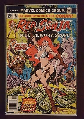 Red Sonja #1 (Jan 1977, Marvel) Roy Thomas Upcoming movie Newsstand Conan