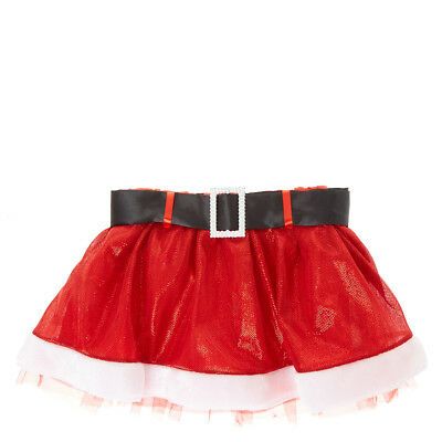 Claire's Christmas Red Santa Skirt With Black Belt Girls/Womens Junior Size M/L