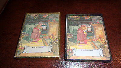 48 Older Antioch Mr. Mouse at Fire Place Book Plates with Box Bookplates