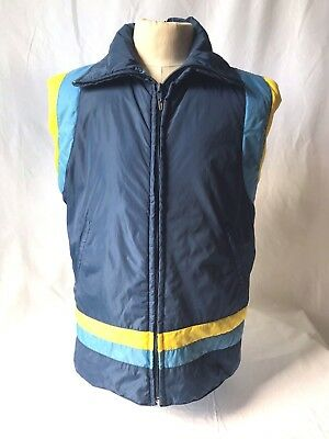 Vintage ANTLER puffy down waterfowl feather vest Size M